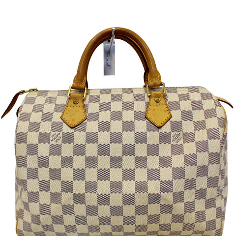 Louis Vuitton Damier Azur Speedy 30 Satchel Handbag