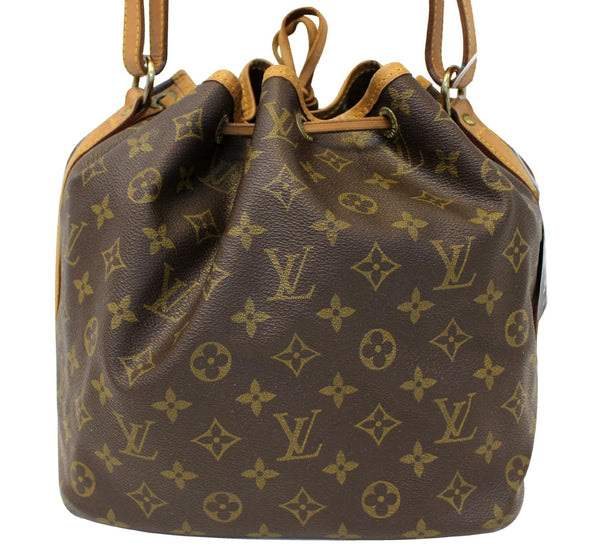 LOUIS VUITTON Monogram Brown Petit Noe Shoulder Bag