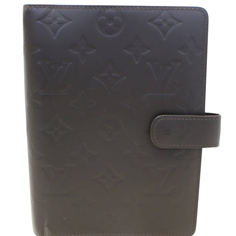 LOUIS VUITTON Mat Agenda MM Day Planner Cover Brown
