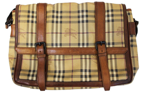 BURBERRY Horseferry Check Messenger Travel Bag - 30% Off