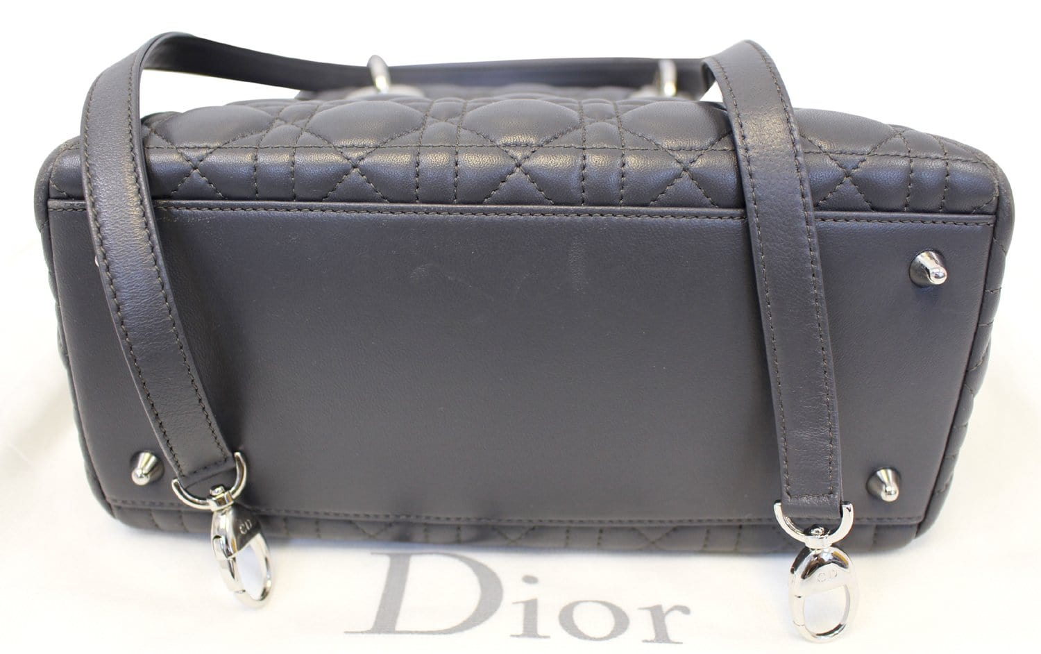 319fce2467 CHRISTIAN DIOR Cannage Quilted Lambskin Leather Lady Dior Medium Bag