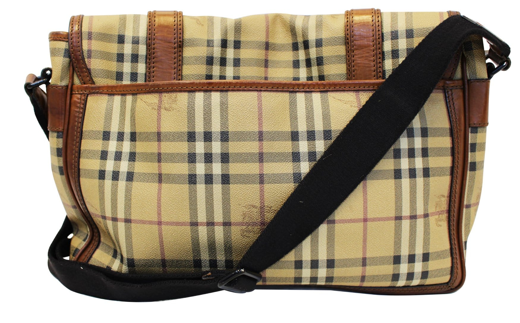 BURBERRY Horseferry Check Messenger Travel Bag - Sale