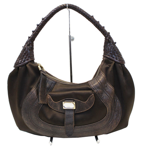 FENDI Brown Leather spy Hobo Bag - Sale