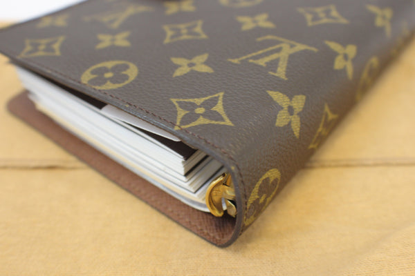 Authentic LOUIS VUITTON Monogram Canvas Agenda MM Day Planner Cover E3190
