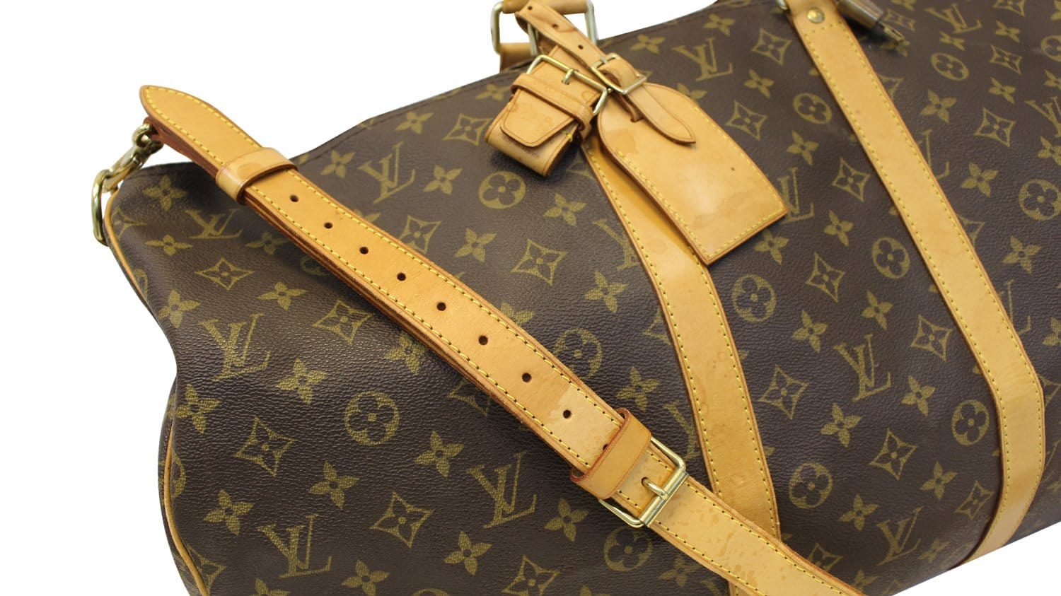 01db176d7347 Authentic LOUIS VUITTON Monogram Canvas Keepall Bandouliere 55 Bag TT1709