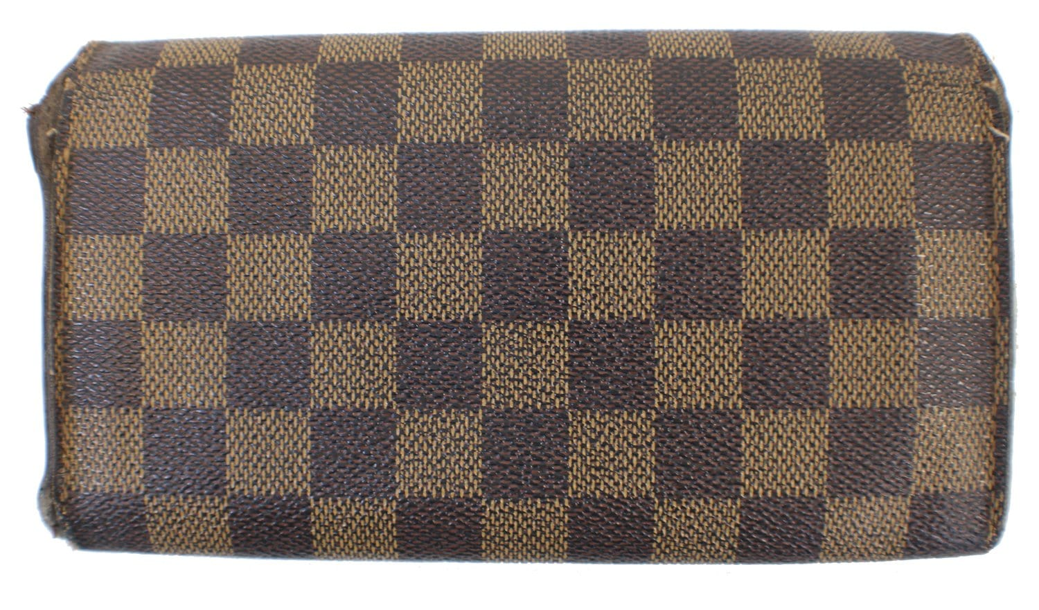 3d4dc39abd9dc Authenic LOUIS VUITTON Damier Ebene Canvas Brown Sarah Wallet CC337 ...