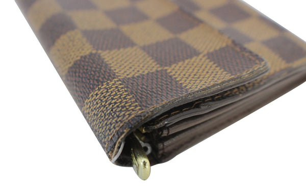 Louis Vuitton Bag Damier Ebene Sarah Canvas Wallet  brown