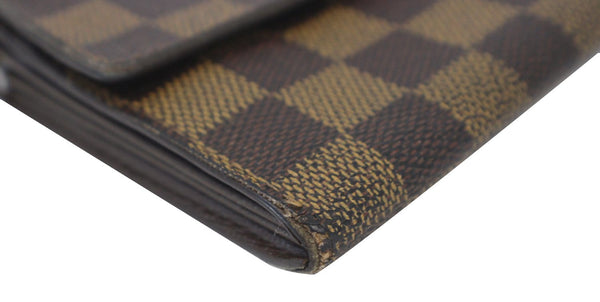 Louis Vuitton Bag Damier Ebene Sarah Canvas Wallet - corner