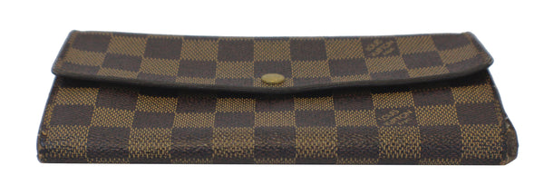 Louis Vuitton Bag Damier Ebene Sarah Canvas Wallet  - handbags