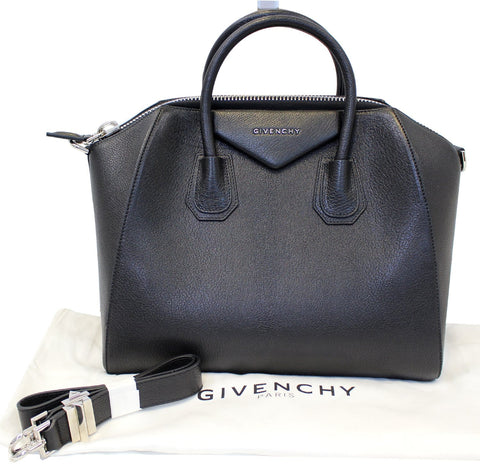 GIVENCHY Black Leather Antigona Shoulder Bag - 20% Off