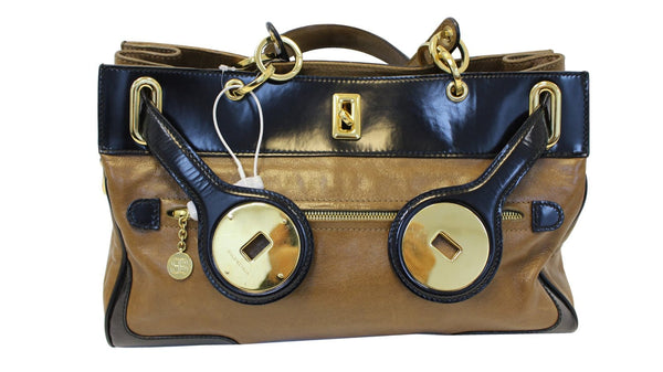 BALENCIAGA Camel Luna Brown Leather Satchel Bag - Final Call