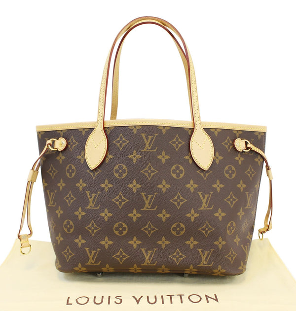 Authentic LOUIS VUITTON Monogram Canvas Neverfull PM Tote Shoulder Bag E3212