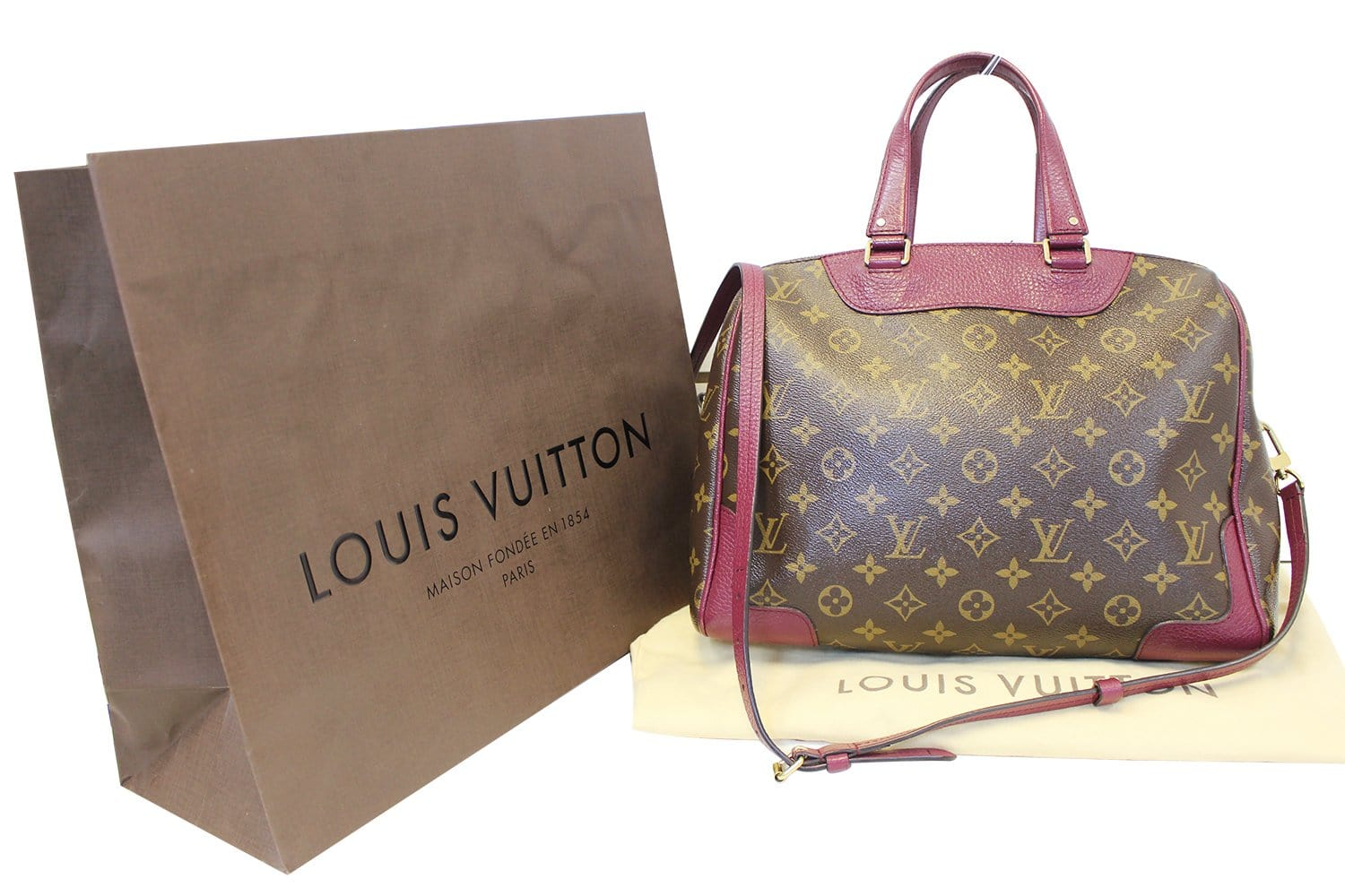 b424f19d1576 LOUIS VUITTON Aurore Monogram Canvas Retiro NM Shoulder Bag