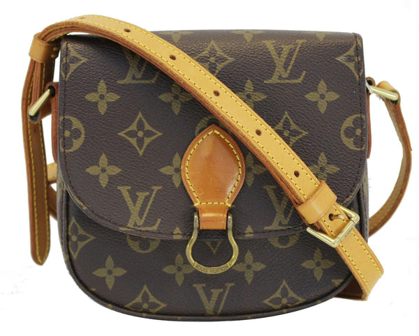 38090e1dac6b Authentic LOUIS VUITTON Monogram Canvas Saint Cloud PM Crossbody Bag C