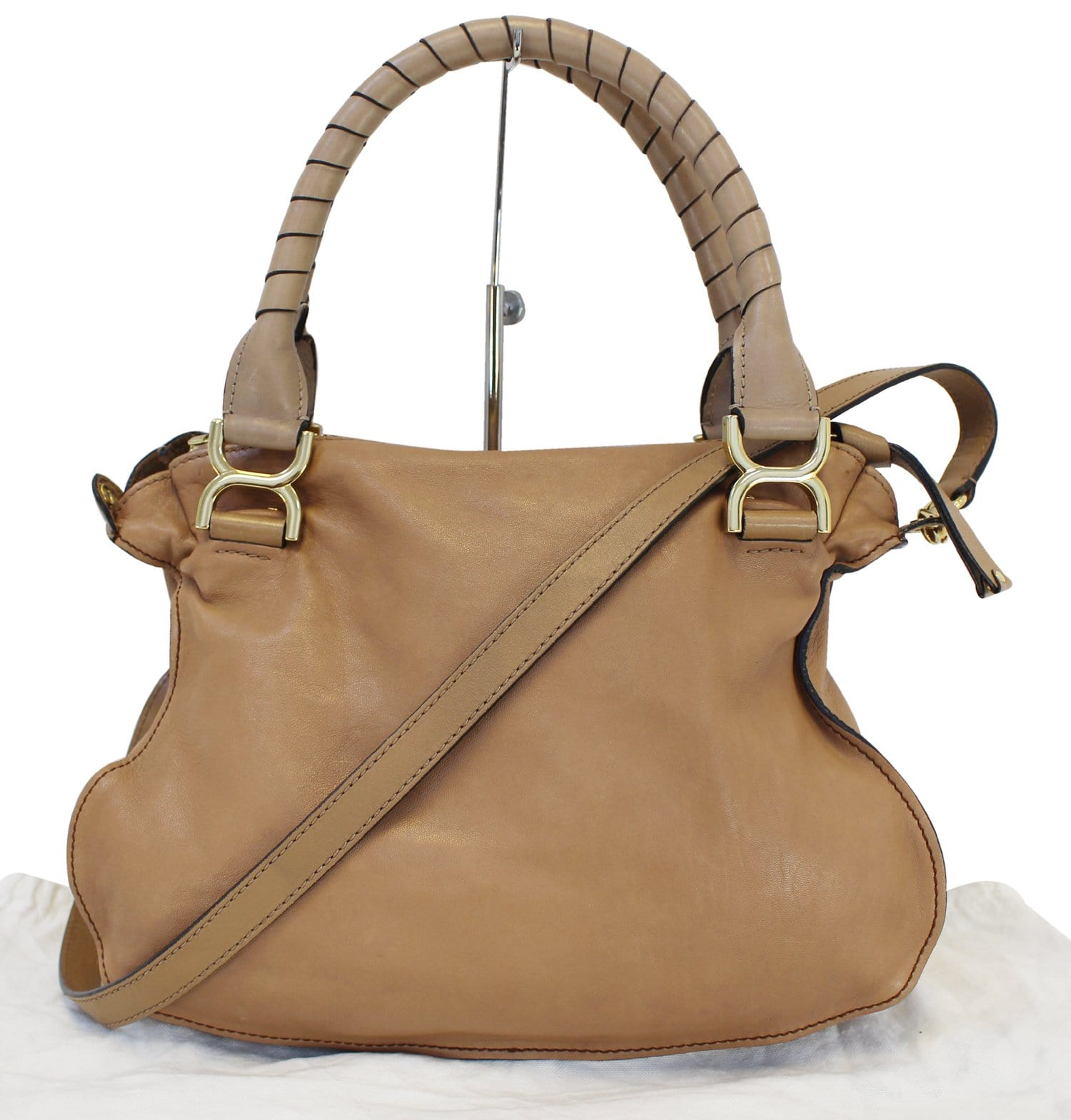 438109eed6 CHLOE Marcie Lock 2way Leather Brown Satchel Bag - Final Call