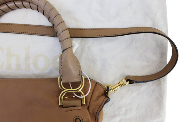 CHLOE Marcie Lock 2way Leather Brown Satchel Bag - Final Call