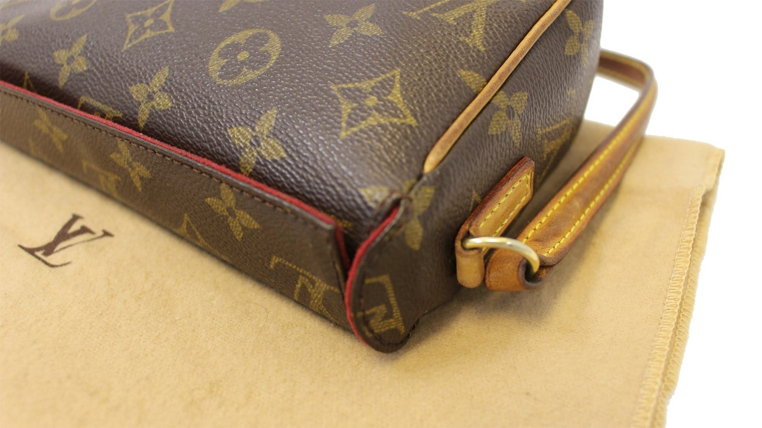 80a69f817ffb Authentic LOUIS VUITTON Monogram Canvas Recital Handbag TT1784