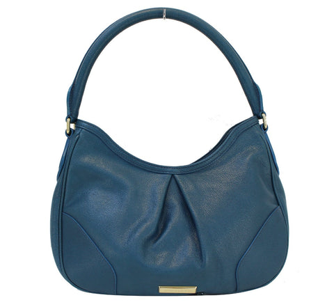 BURBERRY Hernville Leather Teal Small Hobo Bag - 30% Off