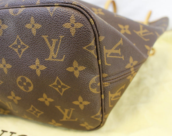 Authentic LOUIS VUITTON Monogram Neverfull MM Shoulder Bag Red E3234