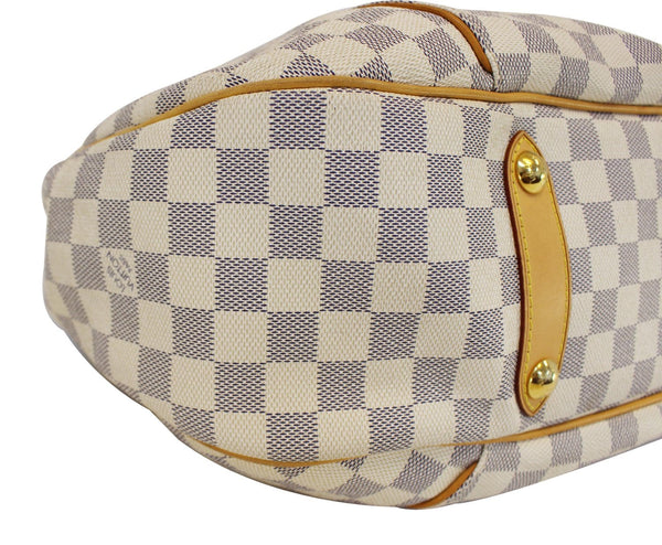 Authentic LOUIS VUITTON Galliera GM Damier Azur  Shoulder Bag E3220