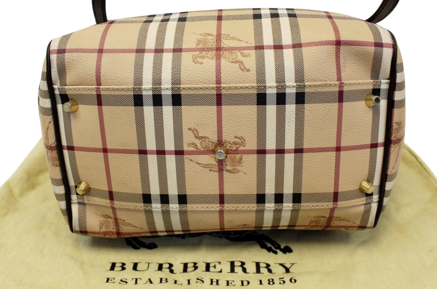 1a6e1b00aa88 BURBERRY Haymarket Check PVC Tote Shoulder Bag