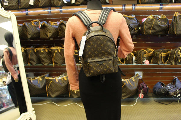 Authentic LOUIS VUITTON Monogram Canvas Palm Springs Backpack E3230