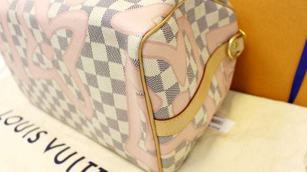 LOUIS VUITTON Damier Azur Tahitienne Speedy 30 Bandouliere Limited Edition