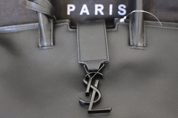 Authentic YVES SAINT LAURENT YSL Paris Downtown 2WAY  Cabas Bag TT1487