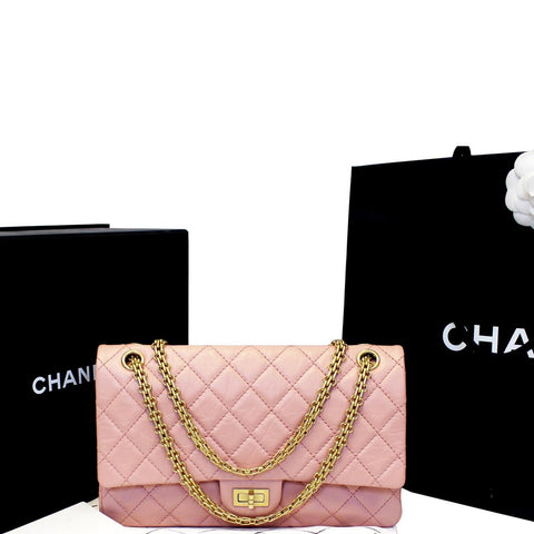 a082da0a99f0 CHANEL 2.55 Reissue Double Flap Pink Shoulder Bag