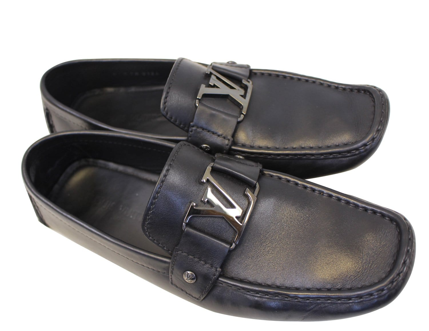 ba782fc79692 LOUIS VUITTON Black Monte Carlo Moccasins Driving Shoes