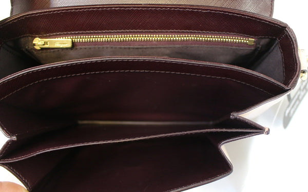 Salvatore Ferragamo Sandrine Crossbody Flap Bag interior