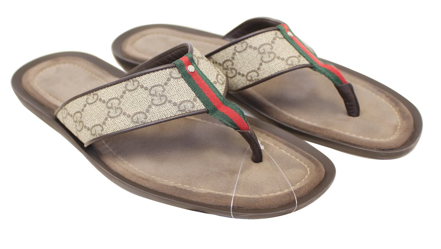 Gucci Mens Gg Supreme Canvas Flip Flops Sandals Size 8 12G-7264