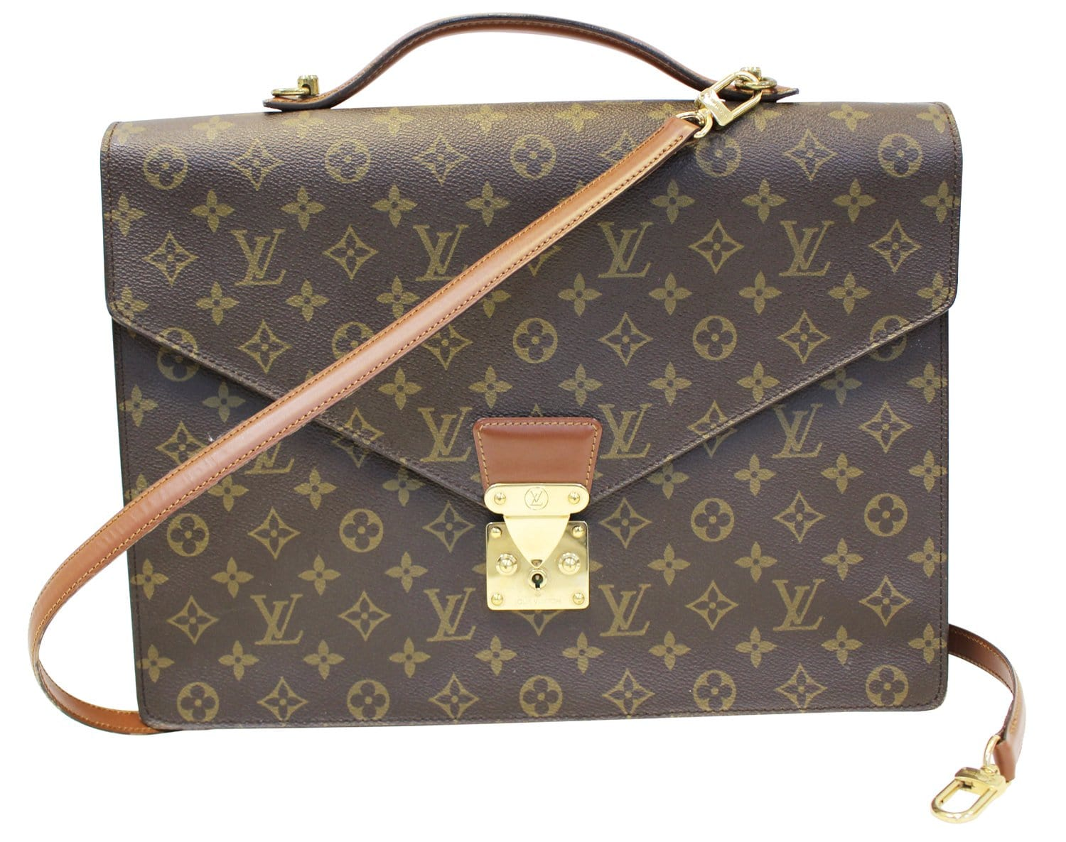7fe433b7fbaa LOUIS VUITTON Monogram Porte Documents Bandouliere Briefcase
