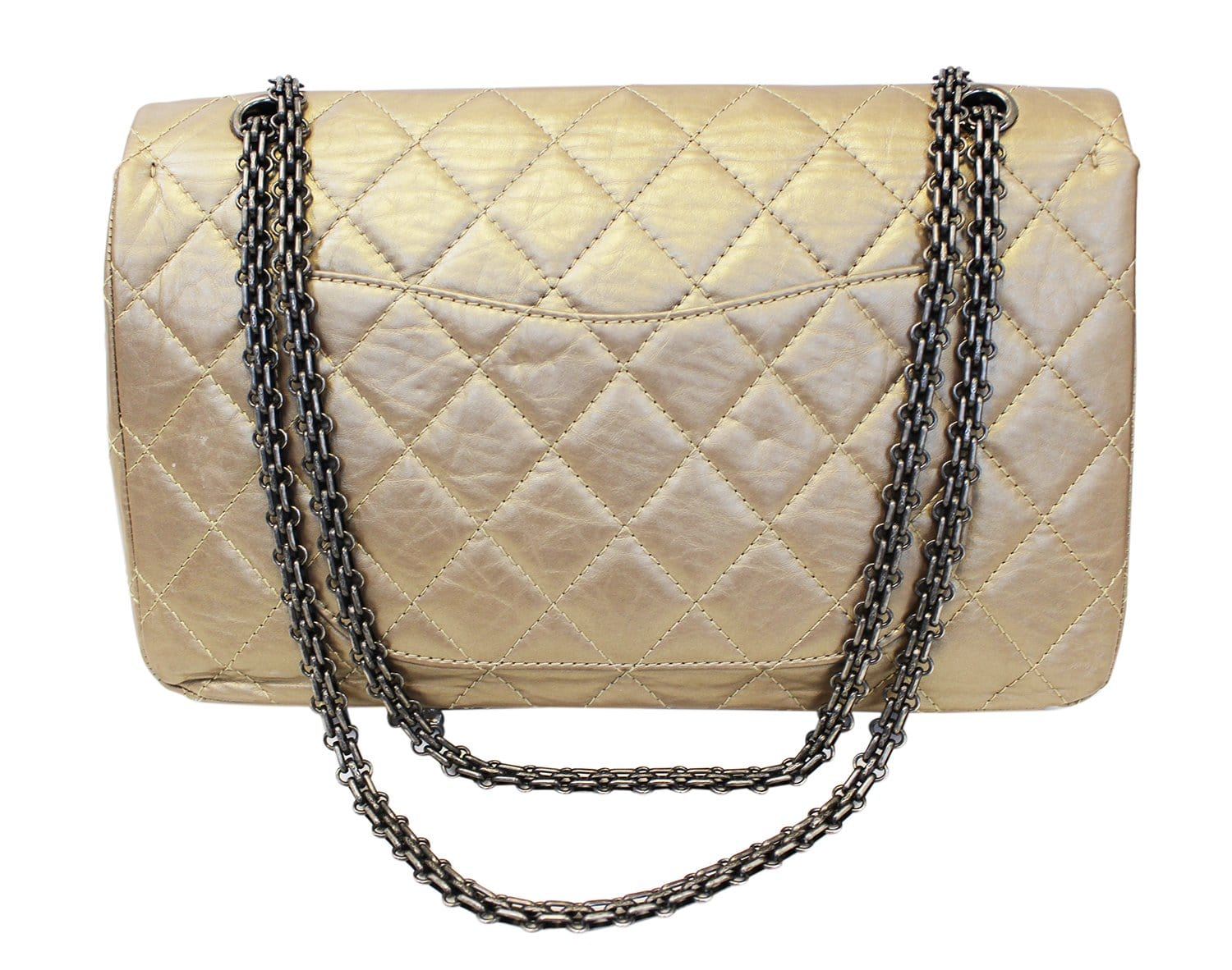 451f10b043a8 CHANEL Bronze 2.55 Reissue Quilted Classic Calfskin Leather 225 Flap Bag