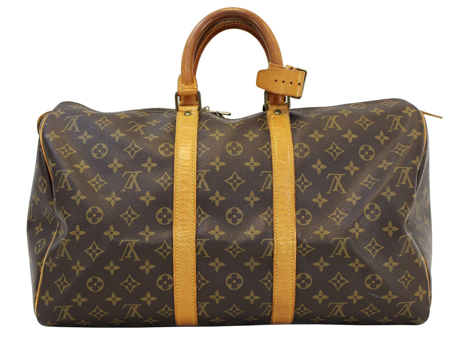 Authentic LOUIS VUITTON Monogram Canvas Keepall 45 Travel Bag Vintage 4829336116dd5