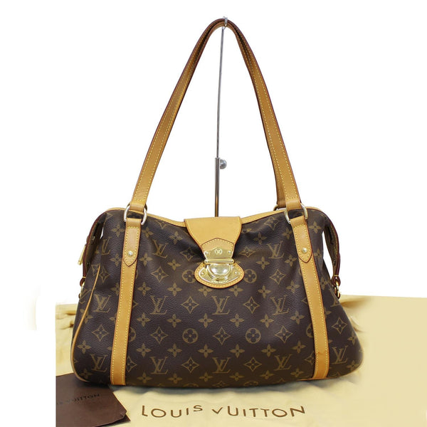 Louis Vuitton Stresa PM Monogram Canvas Shoulder Bag - front view