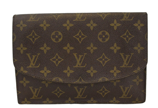 Authentic LOUIS VUITTON Monogram Canvas Pochette Rabat Clutch CC351