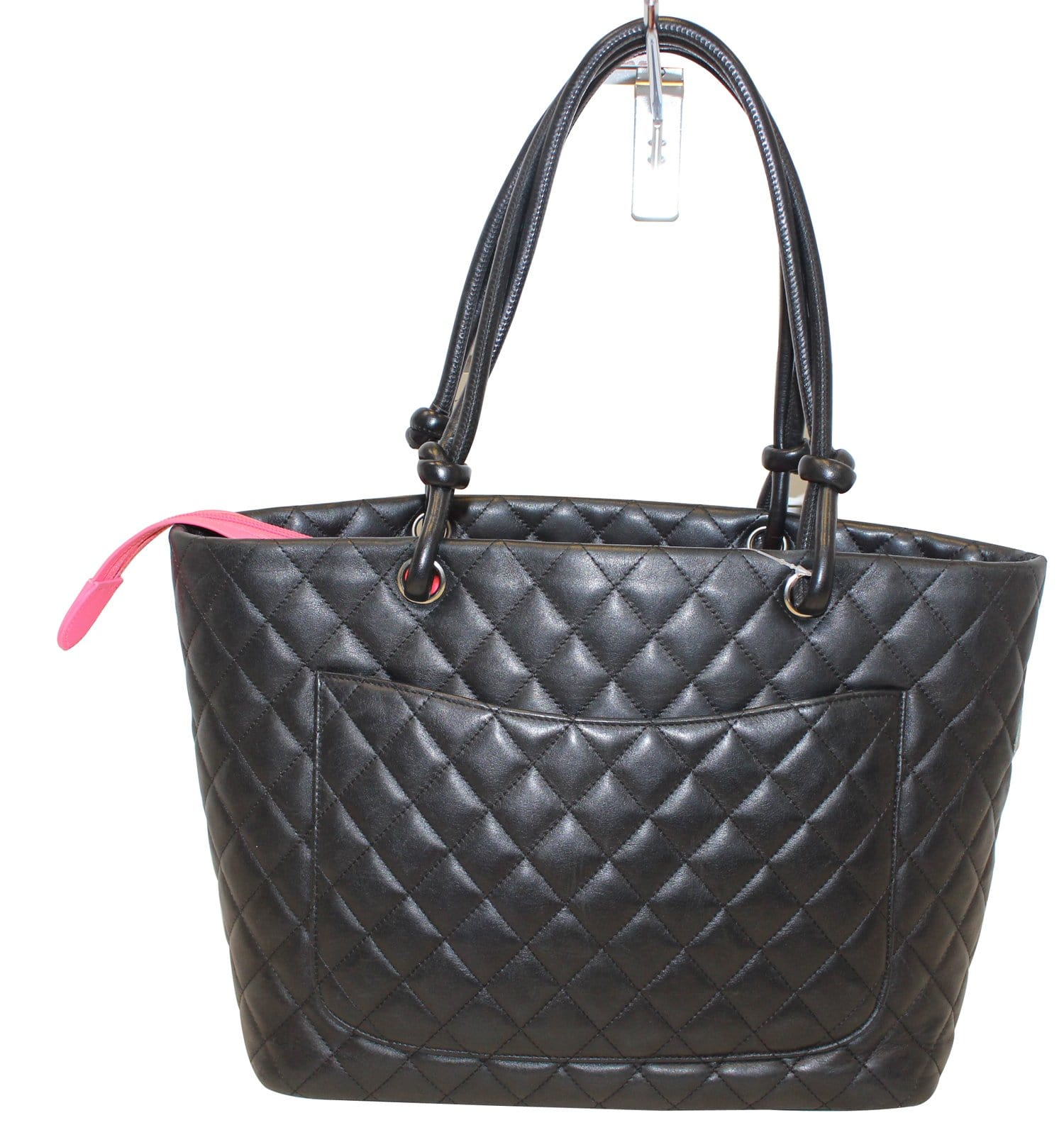 75c2bc334f1d CHANEL Black Quilted Leather Large Cambon Tote Bag