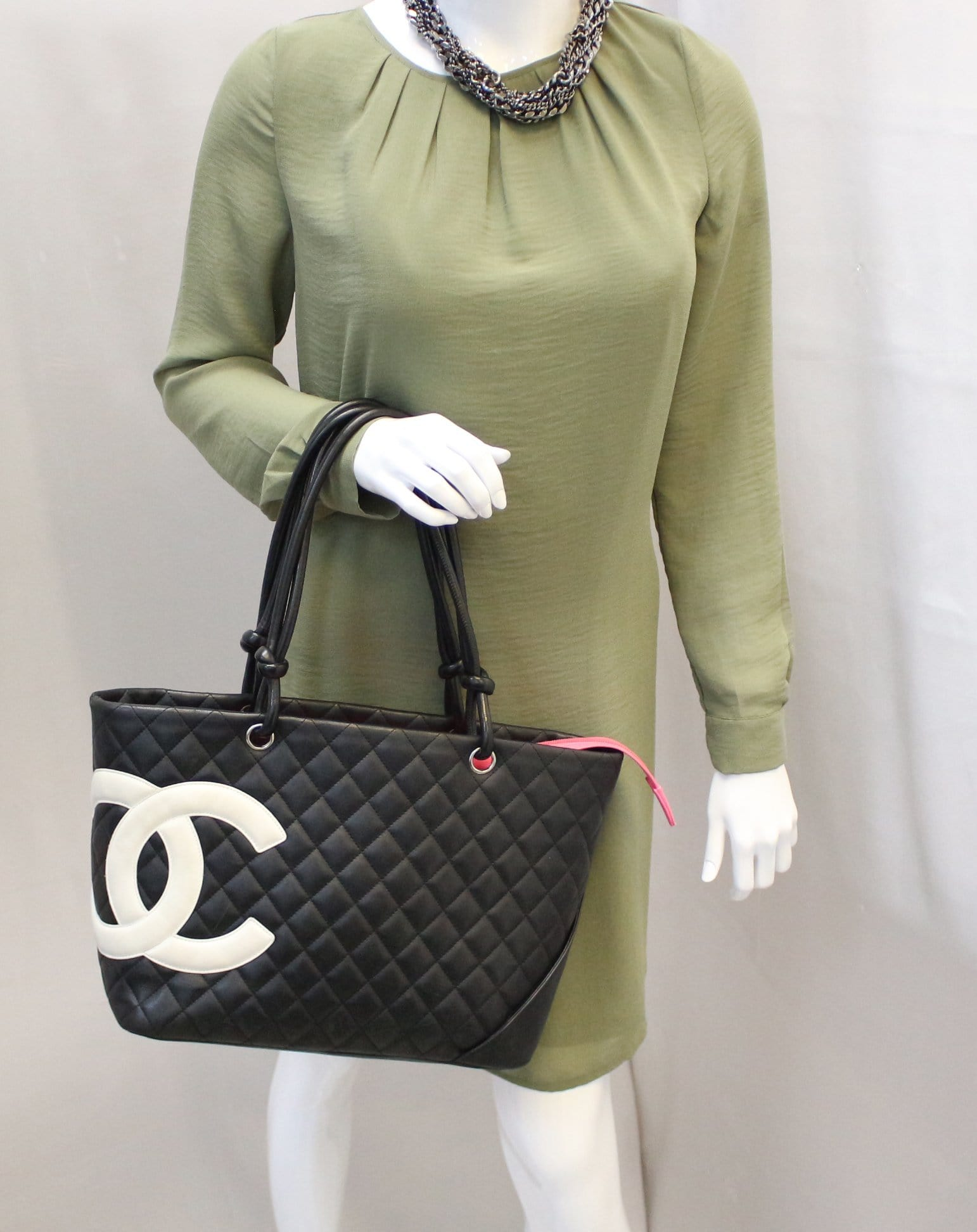 c556851f31ff CHANEL Black Quilted Leather Large Cambon Tote Bag