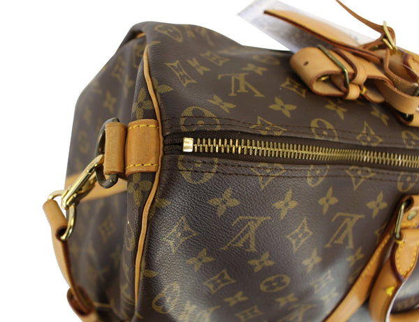 Authentic LOUIS VUITTON Monogram Canvas Keepall 50 Bandouliere Bag TT1457
