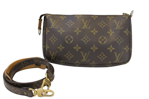 Authentic LOUIS VUITTON Monogram Pochette Accessoires Long Shoulder Pouch CC357