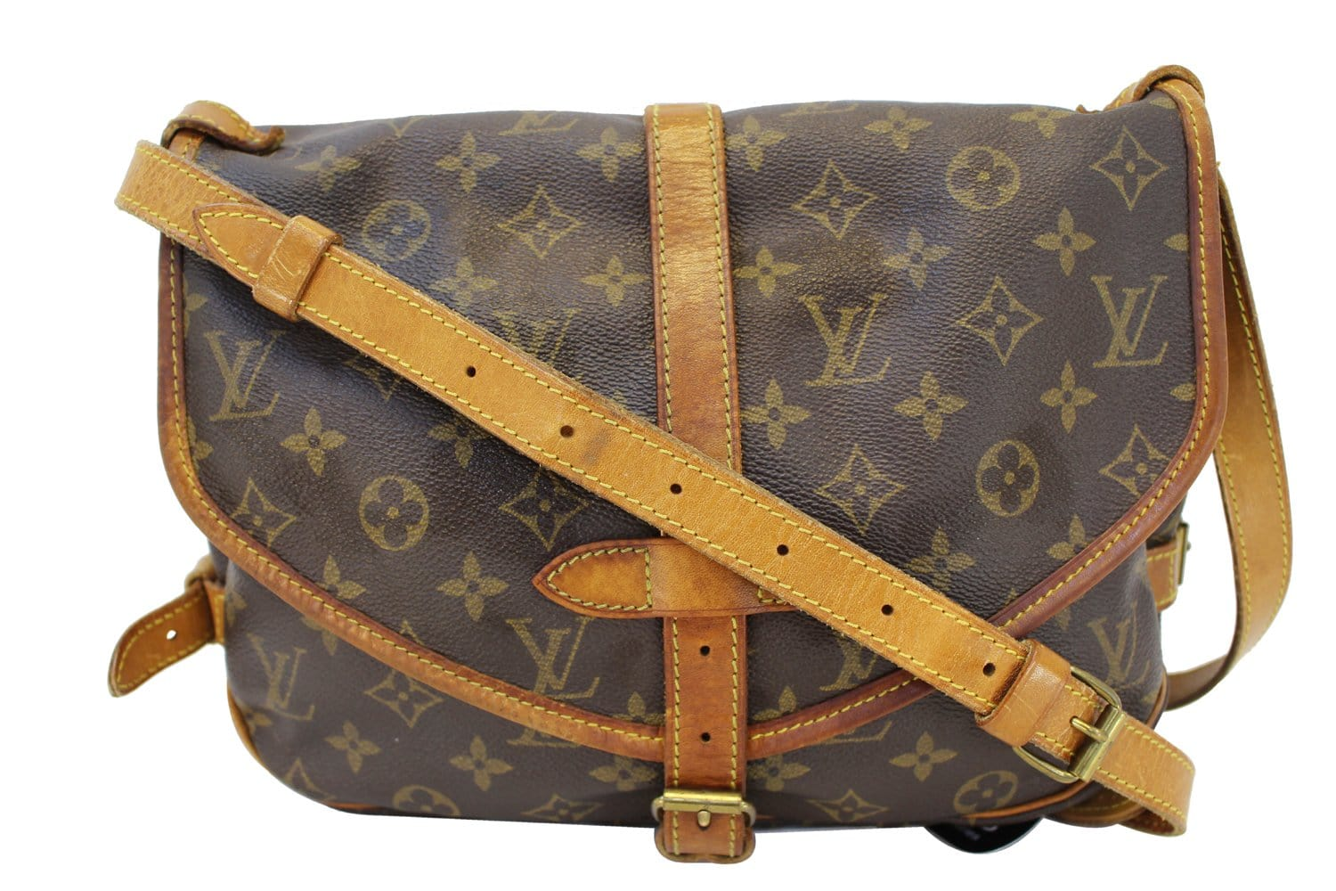 3aecf67f256c Authentic LOUIS VUITTON Monogram Canvas Saumur 30 Crossbody ...