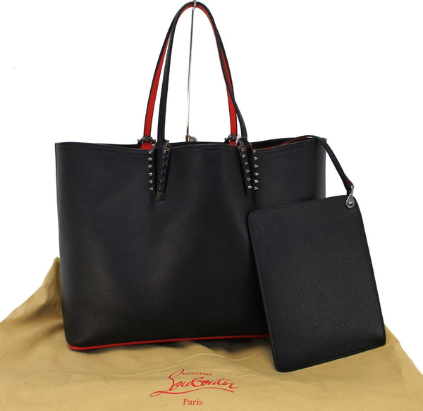 CHRISTIAN LOUBOUTIN Tote Bag - Cabata Studded Leather Bag