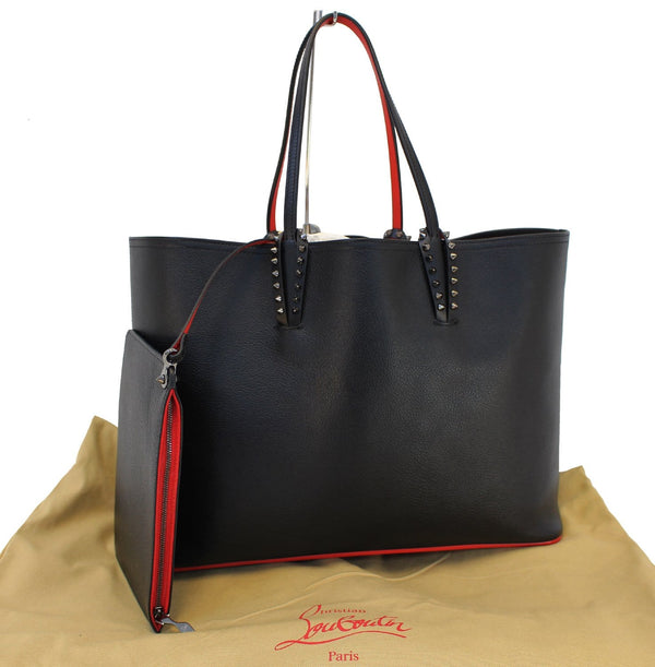 CHRISTIAN LOUBOUTIN Tote Bag - Cabata Studded Leather Bag - front view