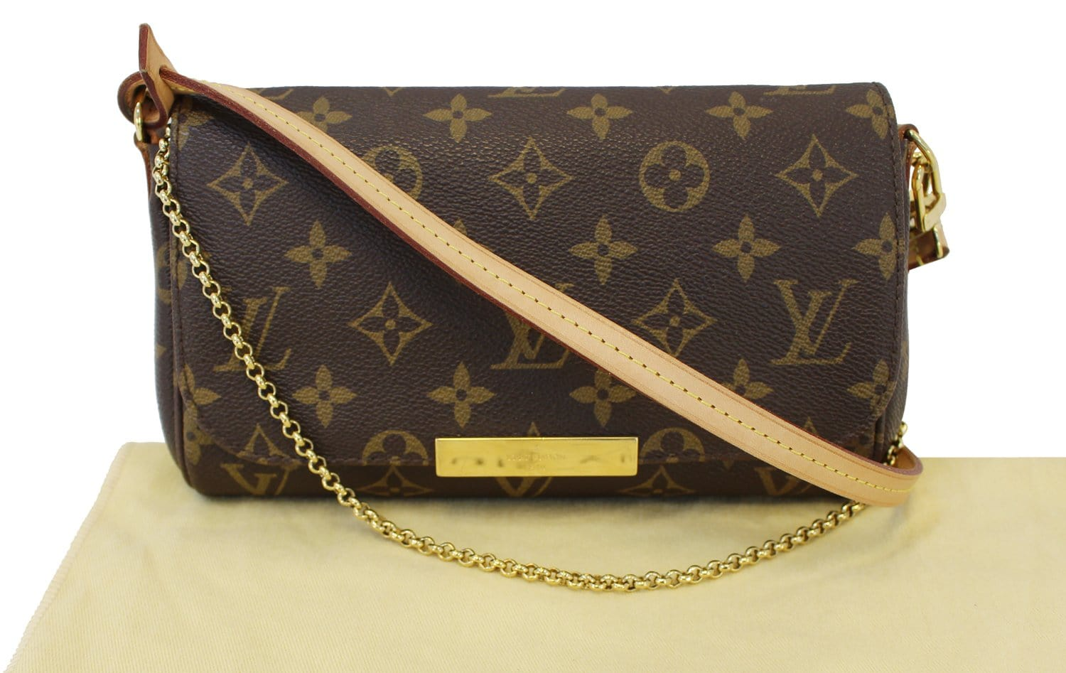dec0cc72ac76 Authentic LOUIS VUITTON Monogram Canvas Favorite PM Crossbody Bag TT1469
