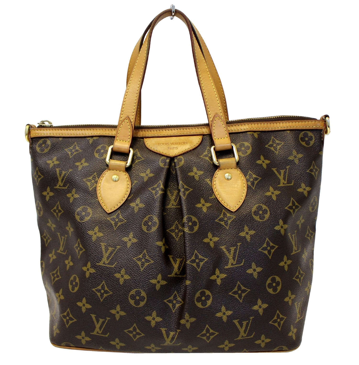 73821eb20f4f Authentic LOUIS VUITTON Monogram Palermo PM Tote Shoulder Bag E3640
