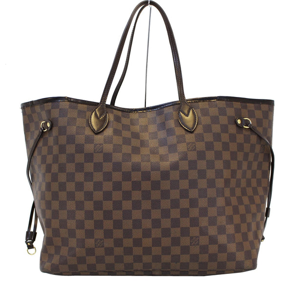 Authentic LOUIS VUITTON Damier Ebene Neverfull GM Tote Bag E3226