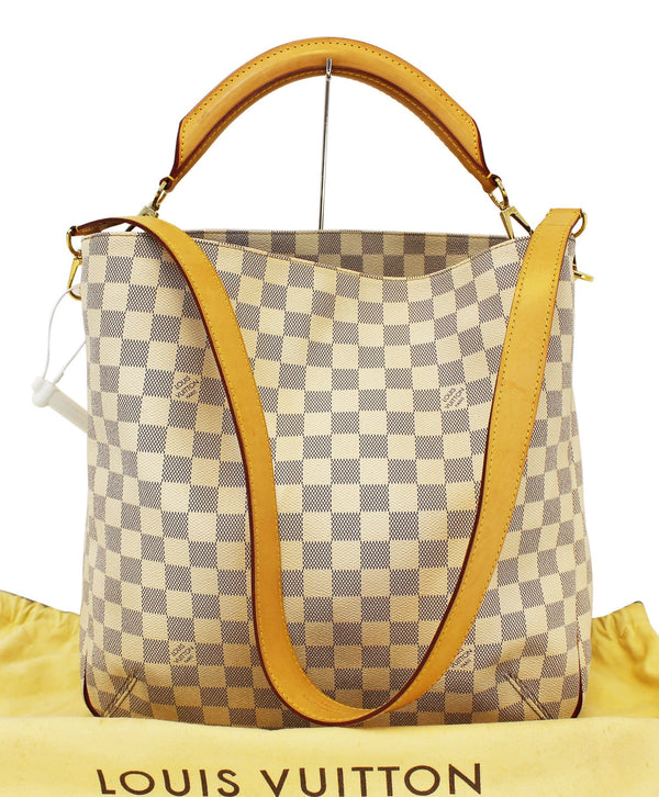 LOUIS VUITTON Soffi  Damier Azur Canvas White Shoulder Handbag