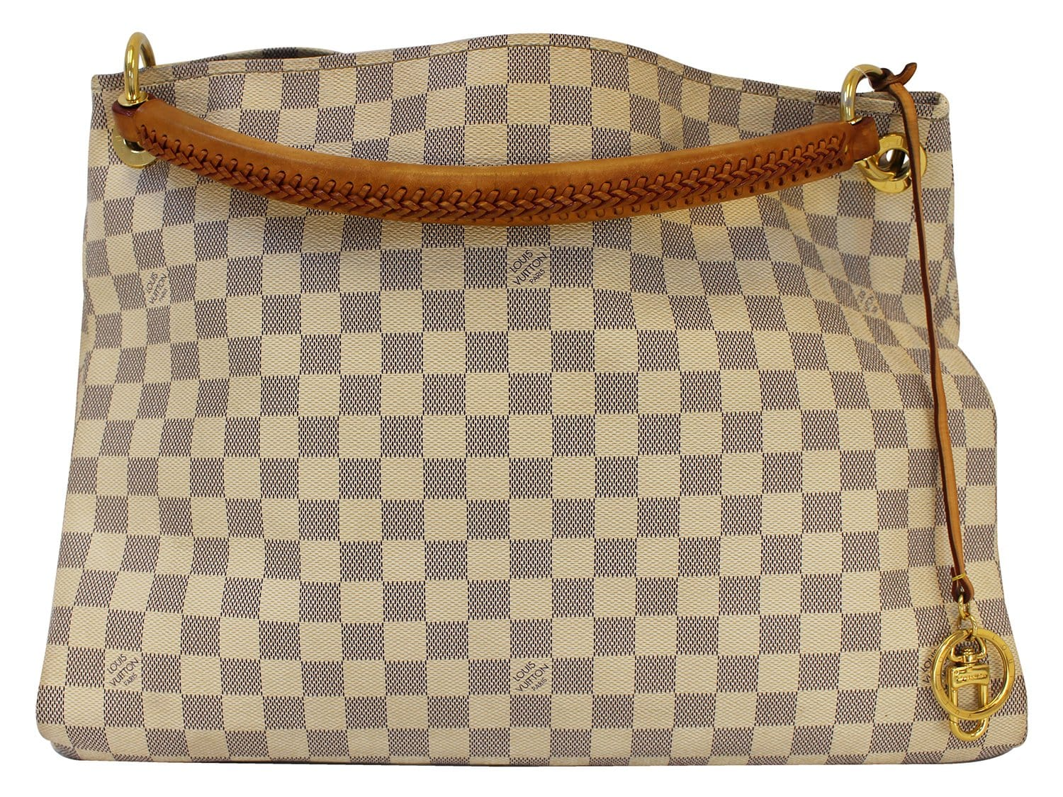 2fde5878aaa9 Authentic LOUIS VUITTON Artsy MM Damier Azur Shoulder Handbag E3304