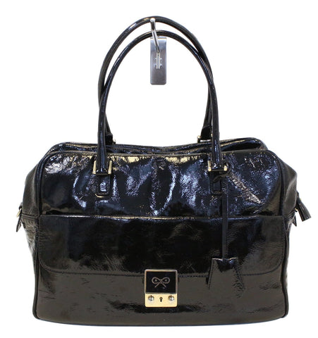 Anya Hindmarch Handbags Women Carker Black Patent Leather - Last Call